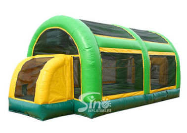 3 in 1 multiuse blow up kids inflatable basketball court with roof made of UV resistance material