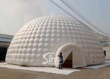 18m white giant inflatable igloo dome tent with 3 tunnel entrances for parties